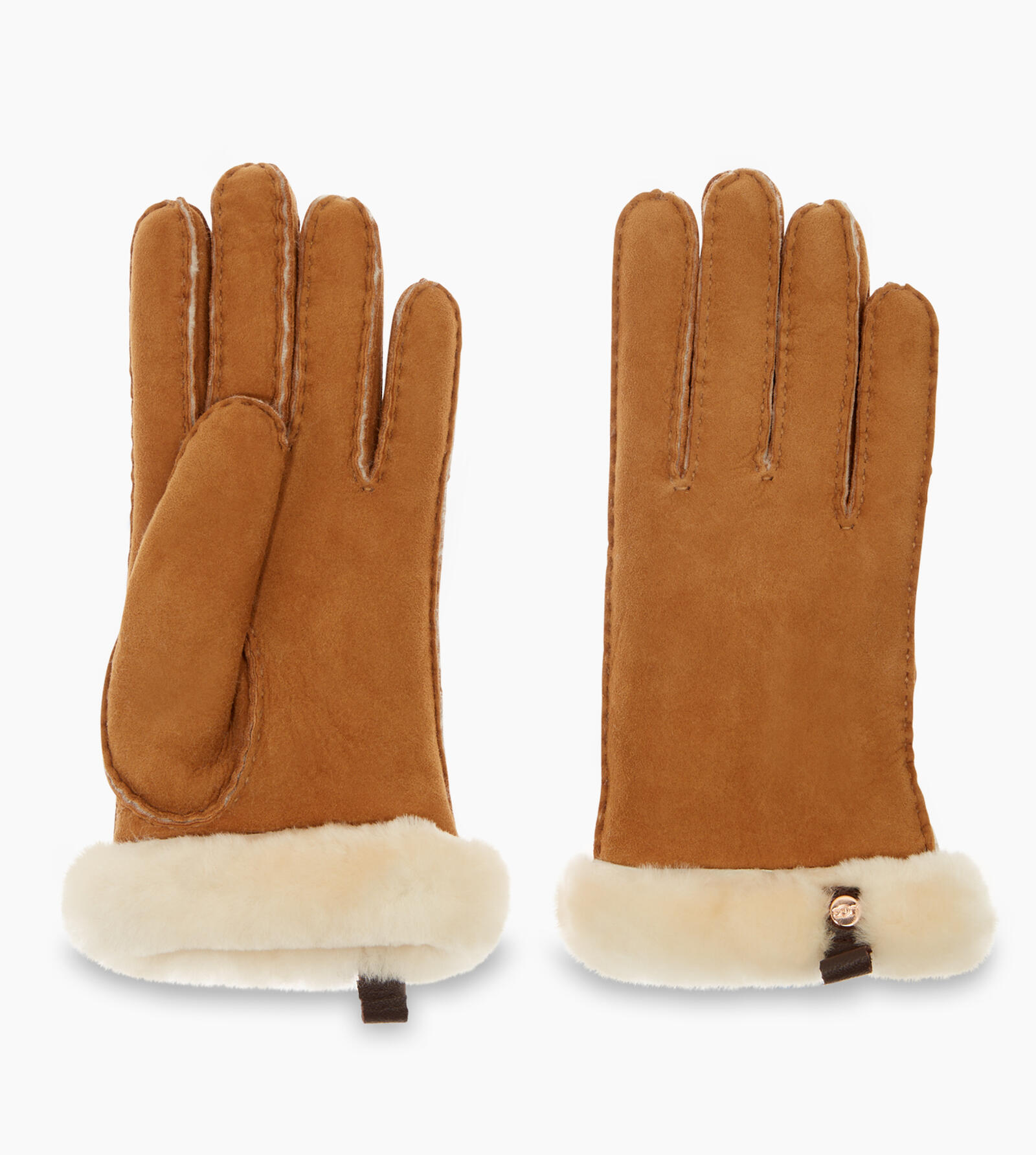 Shorty Glove With Leather Trim Handschuhe
