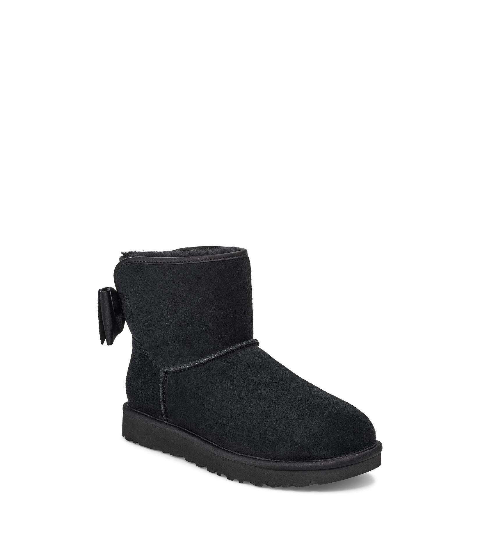 Satin Bow Mini Boot