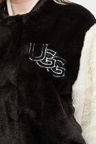 Halie Faux Fur Varsity Jacket