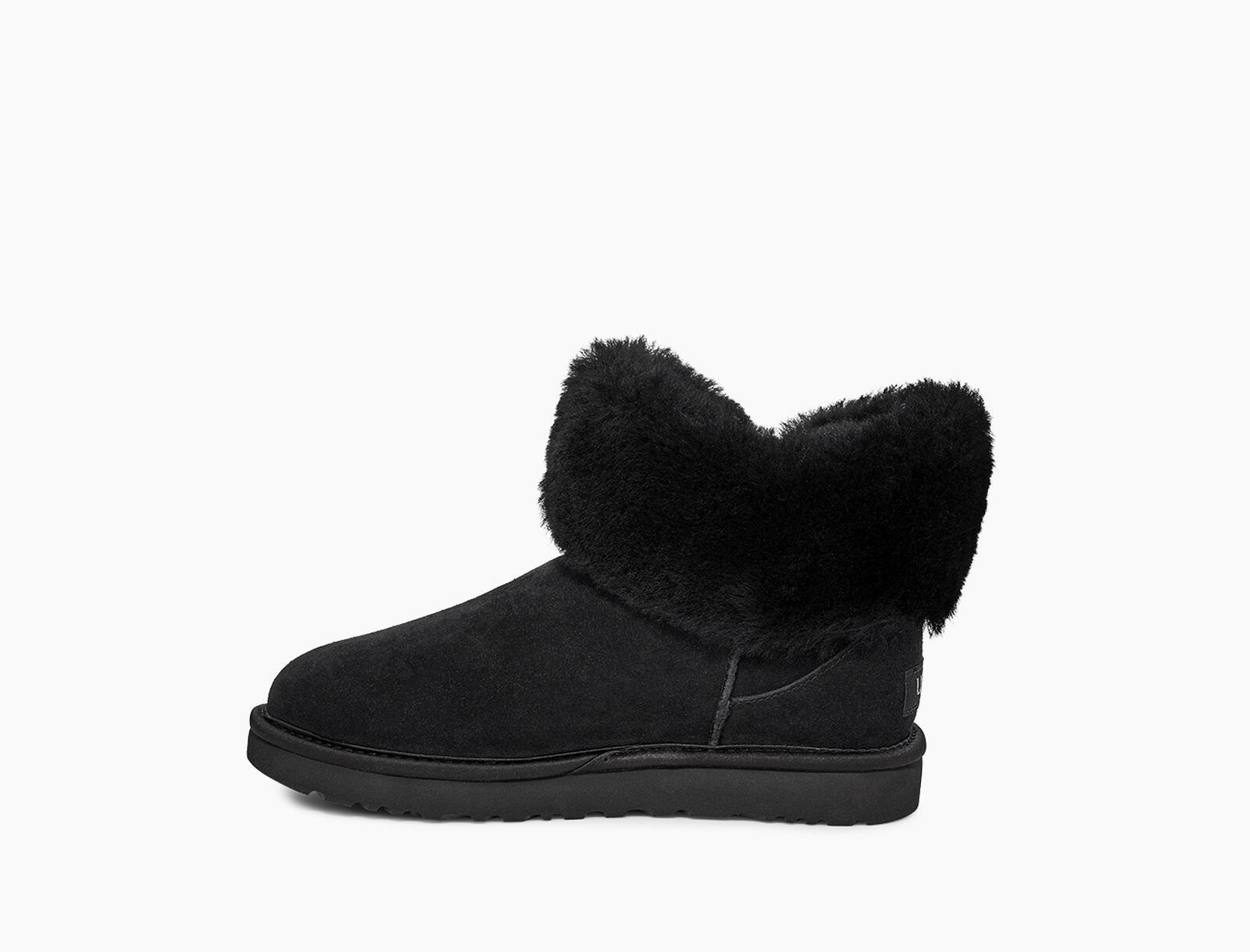 Cinched Fur Mini Stiefel
