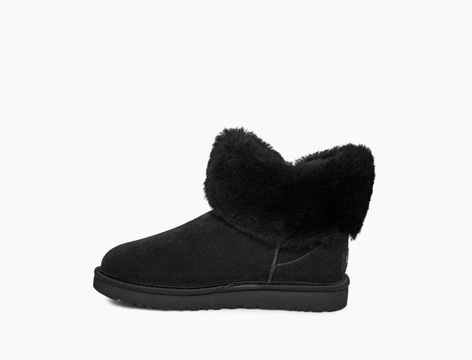 Cinched Fur Mini Boot