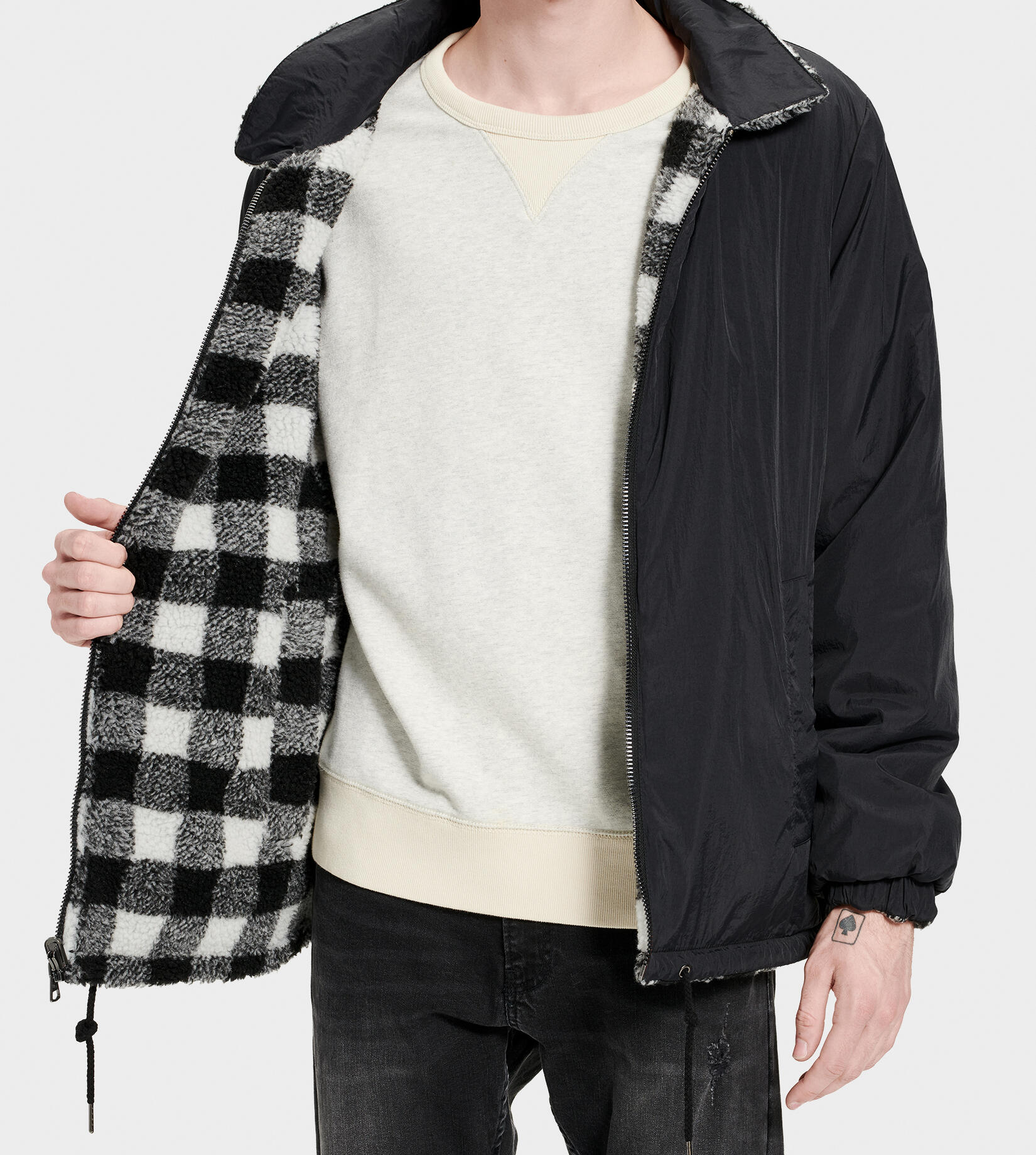 Mace Reversible Sherpa Jacket