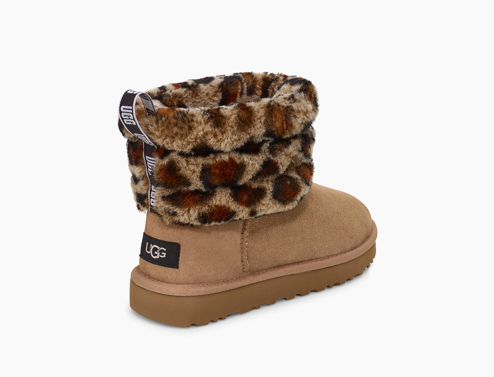Fluff Mini Quilted Leopard Boot