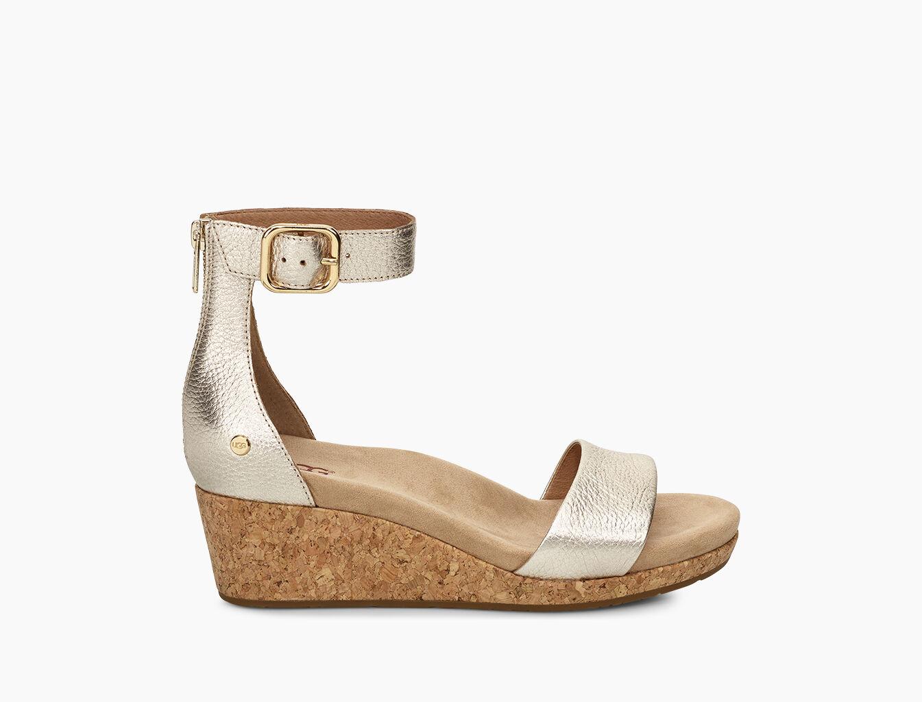 Dames Zoe II Metallic Sandalen met Hak