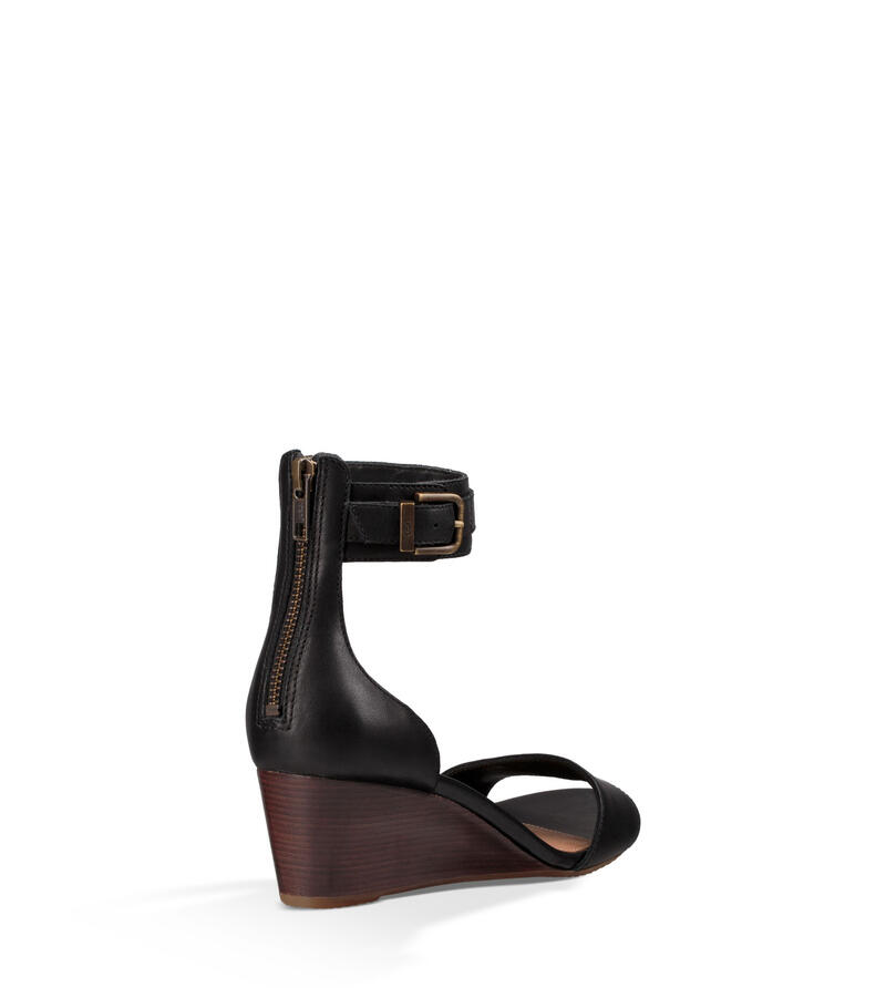 Char Leather Wedge