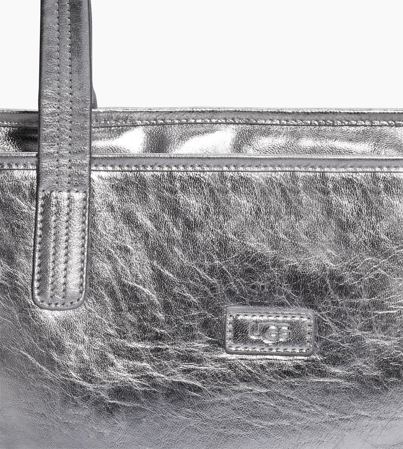 Alina Metallic Tote Bag