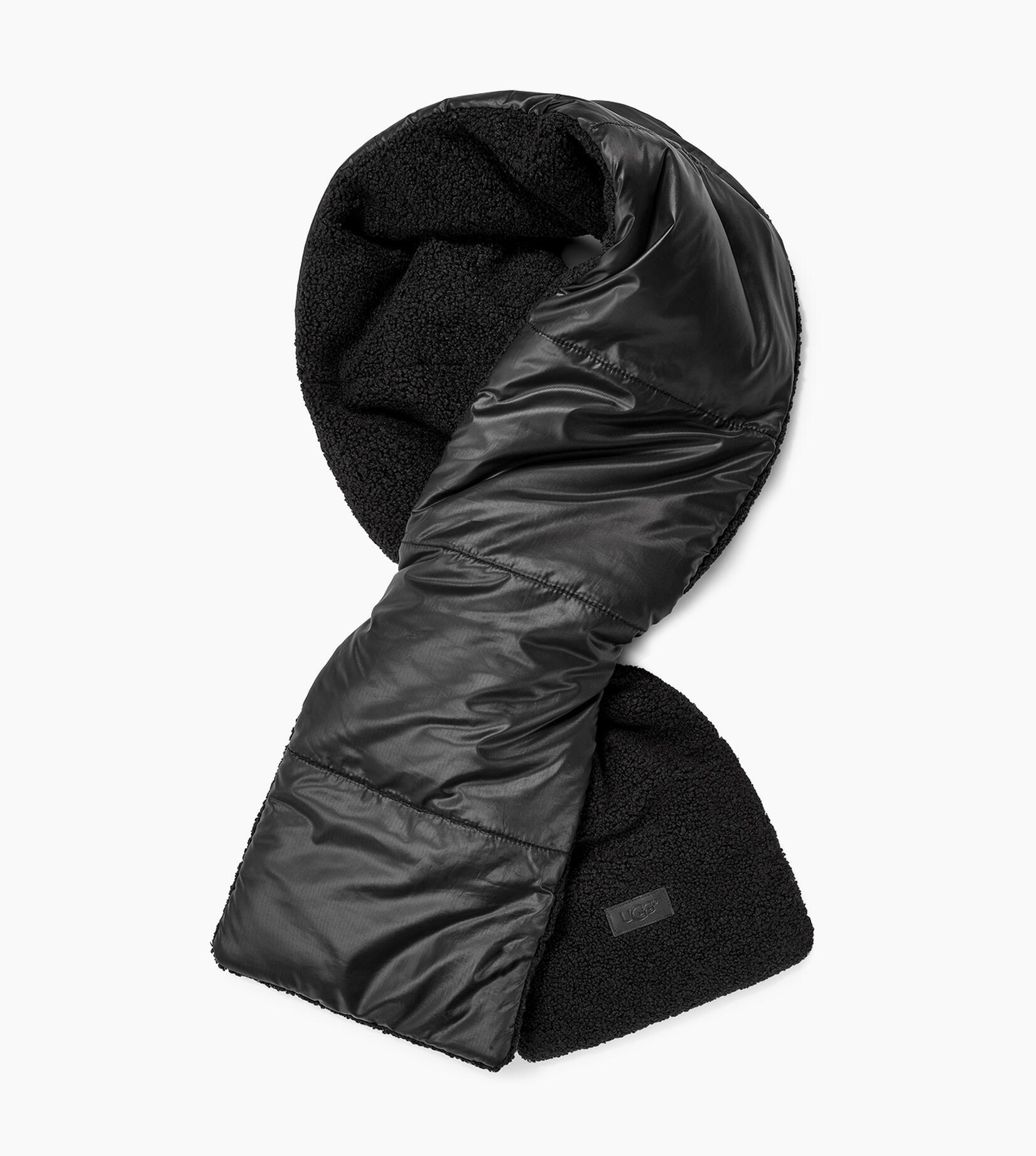 Fabric to Sherpa Puffer Schal