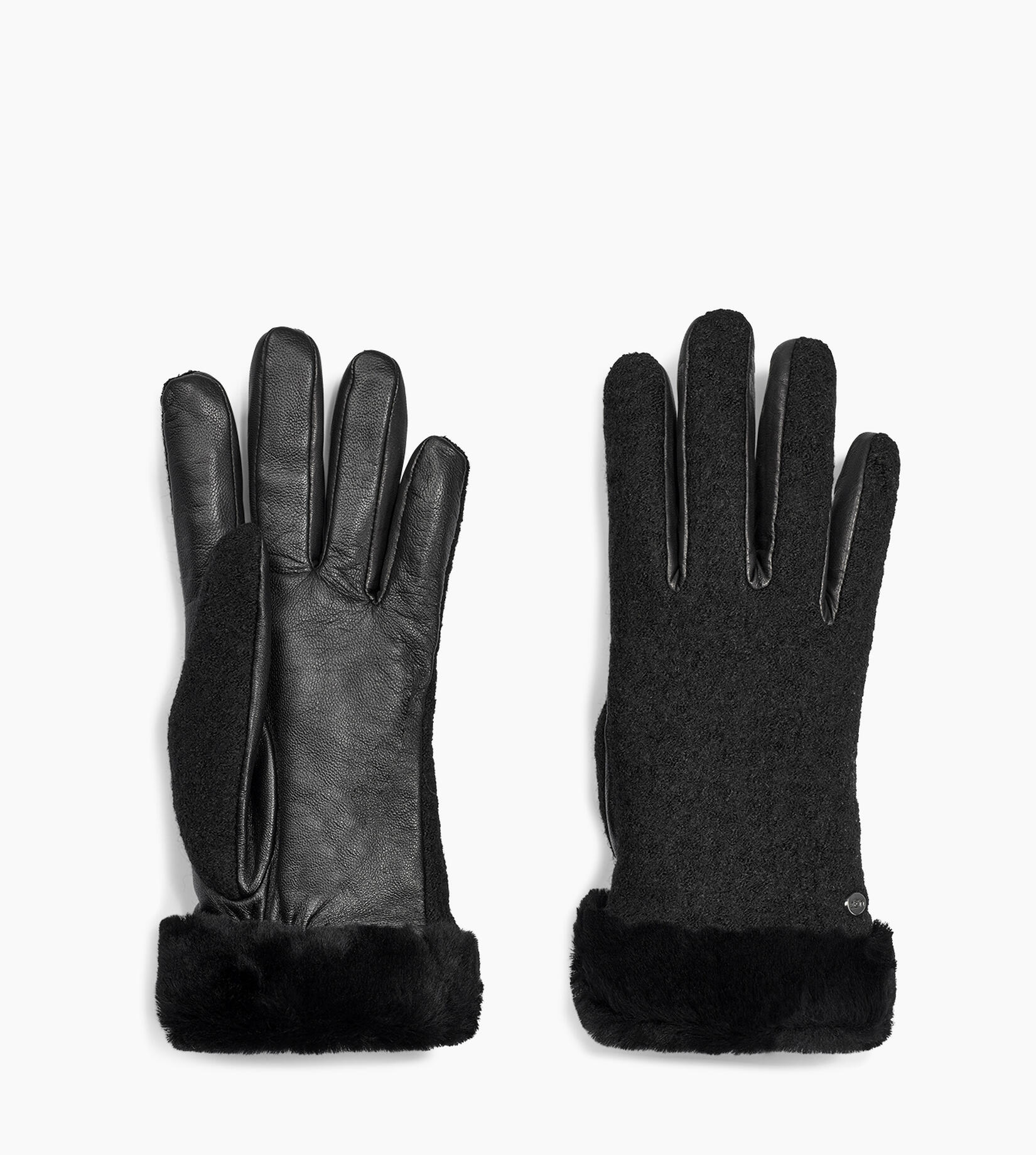 Fabric Leather Shorty Glove
