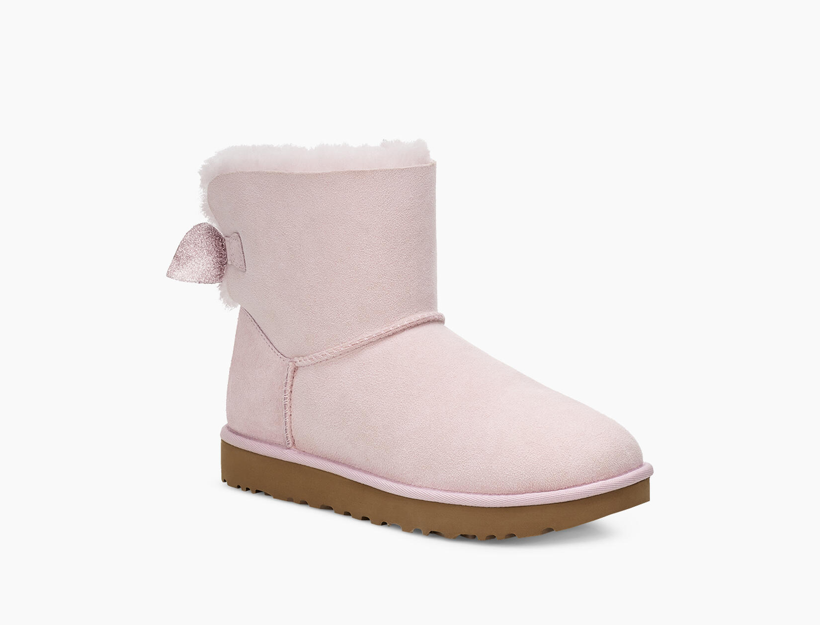 Suede Mini Bow Boot