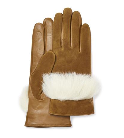 Handschoen van suède leer en sheepskin