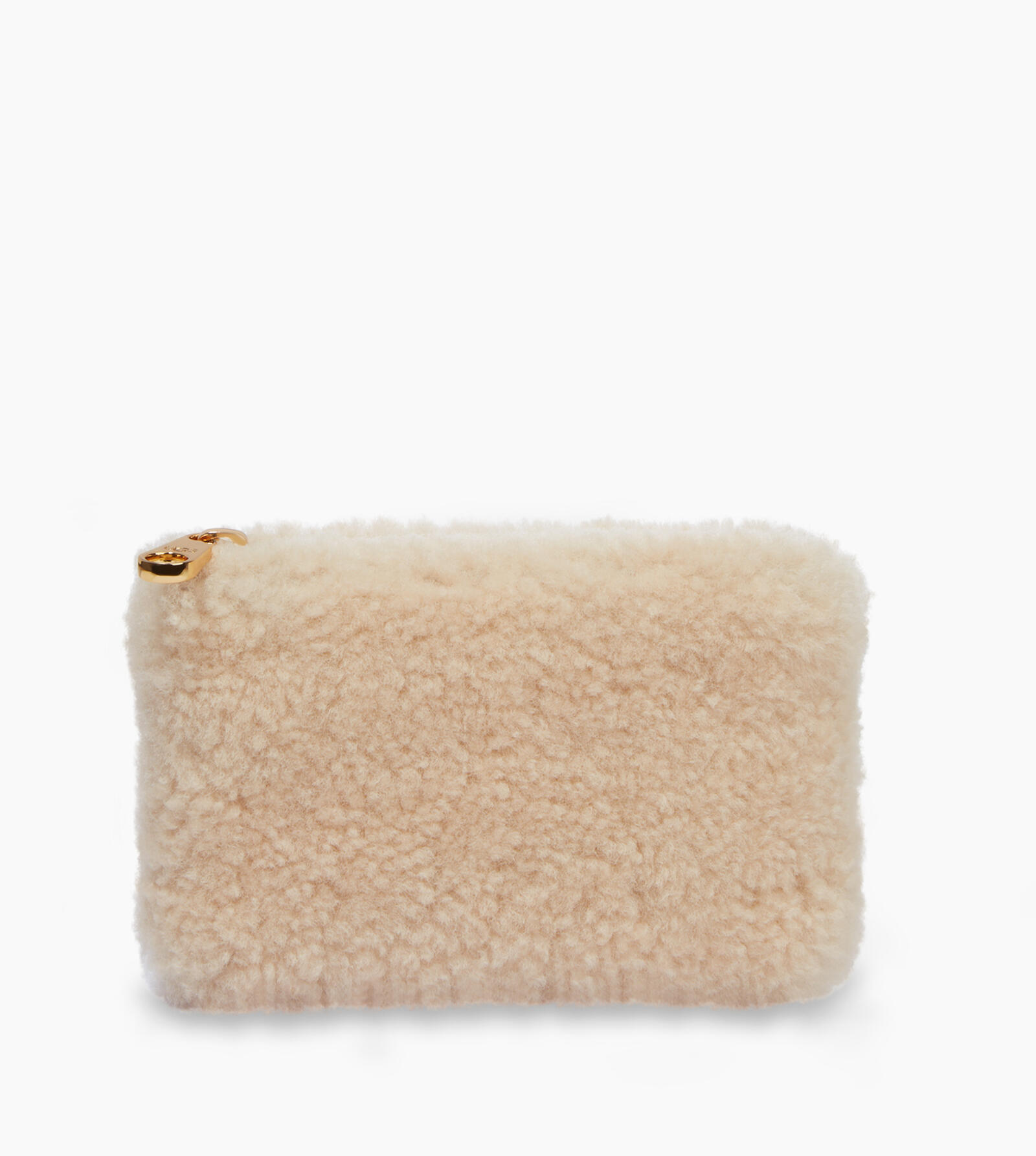Small Sheepskin Zip Pouch