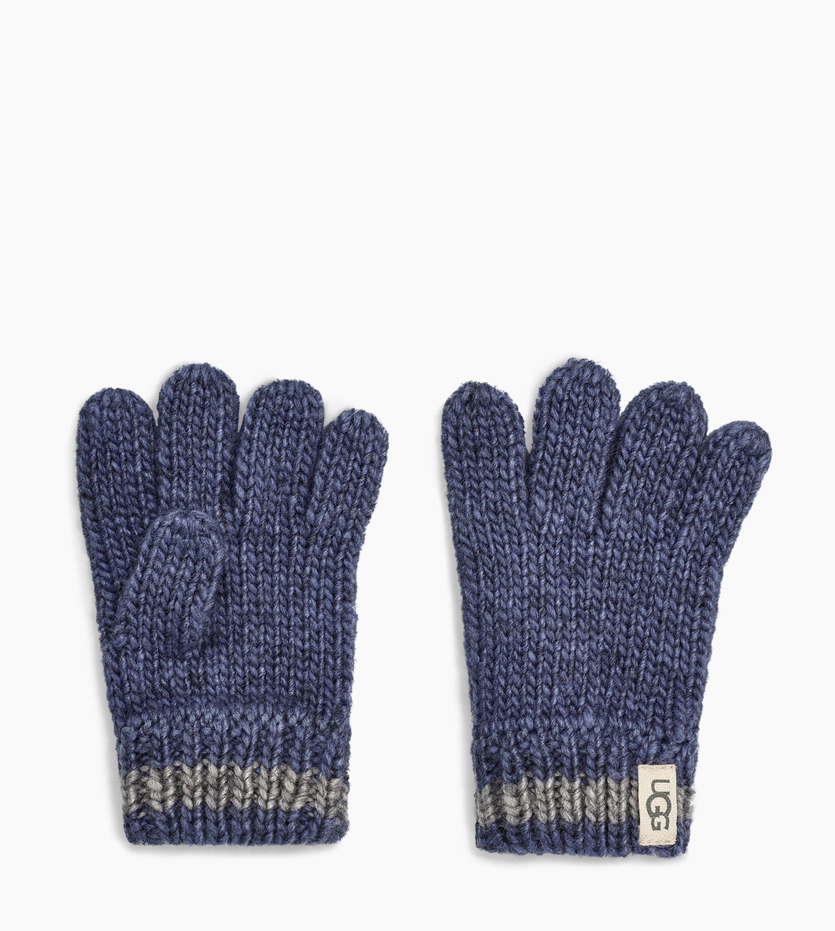 Chunky Stripe Knit Glove