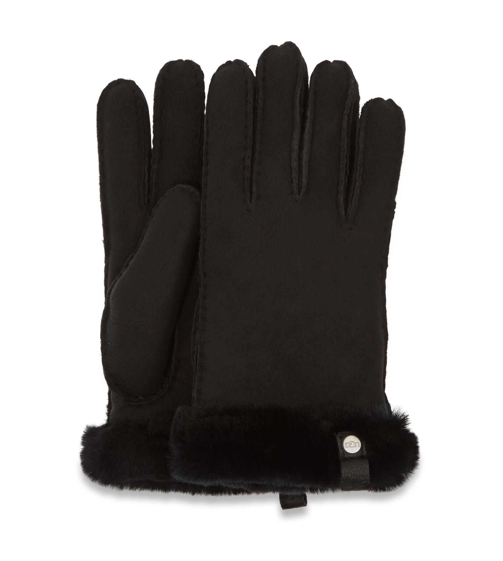 Shorty Glove With Leather Trim