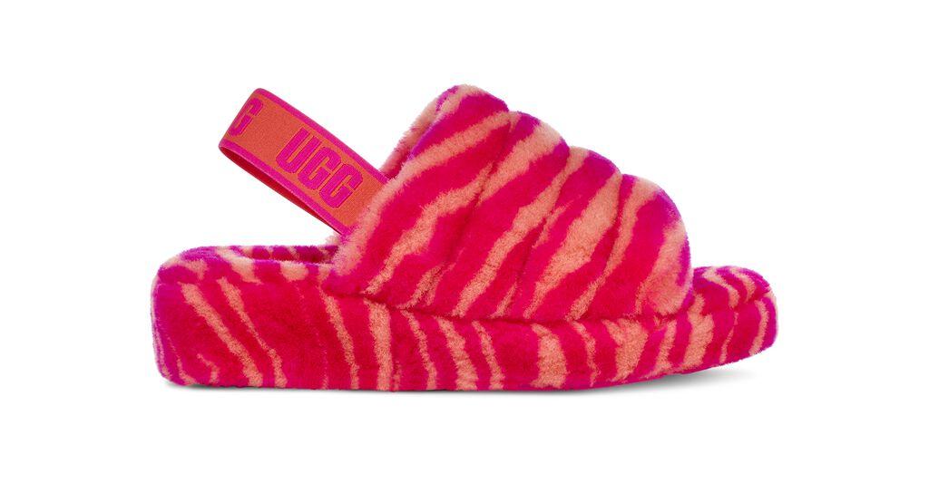 Fluff Yeah Slide Zebra Sandal   UGG®