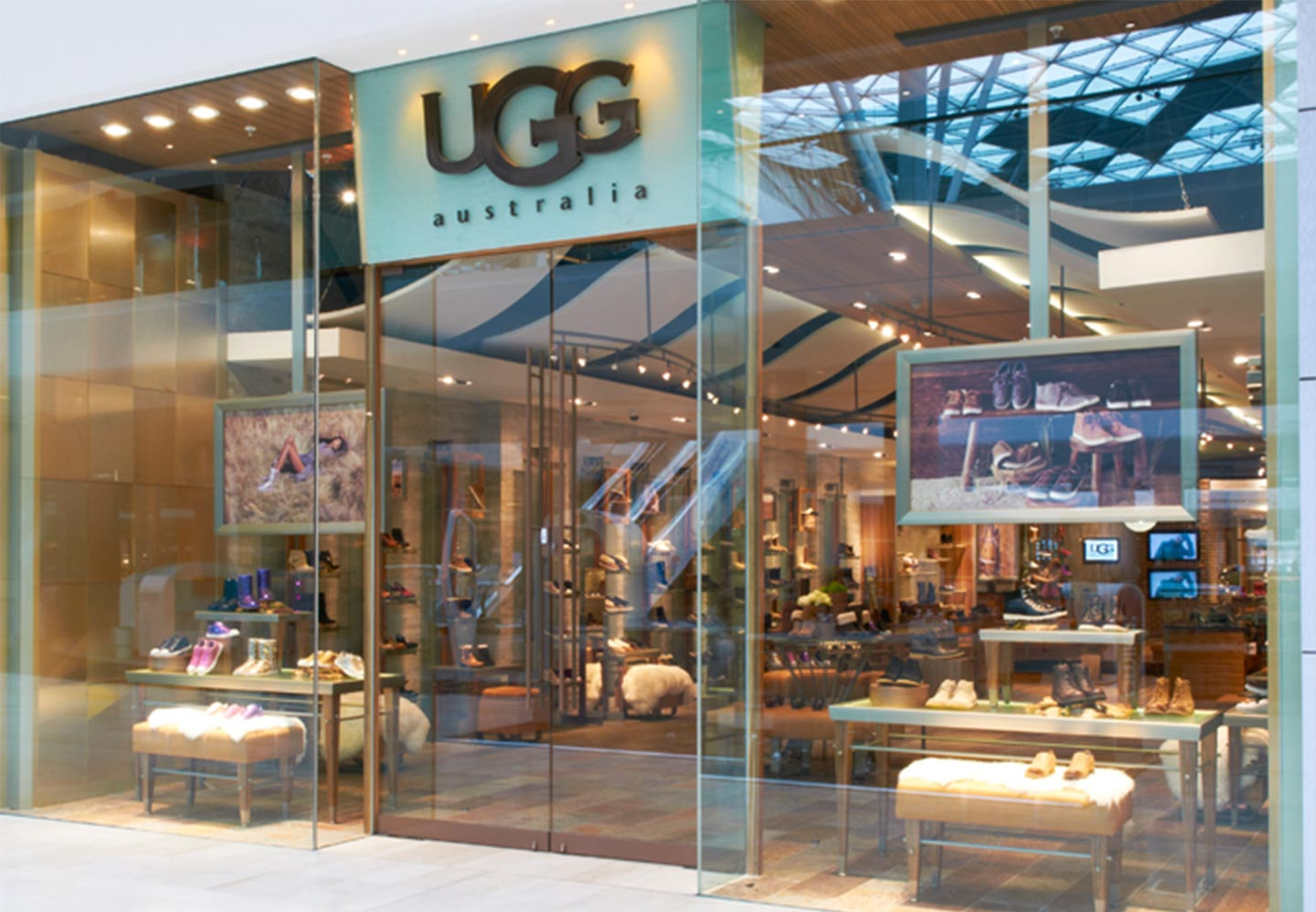 storefront of London Ugg retail store