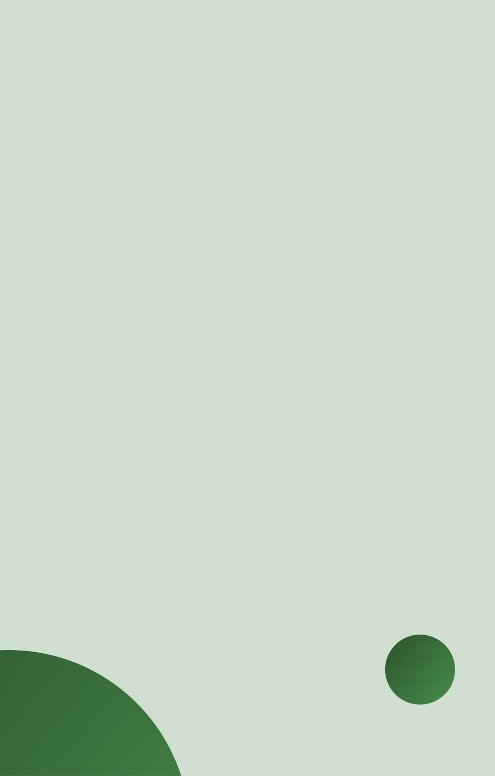 Green artwork.