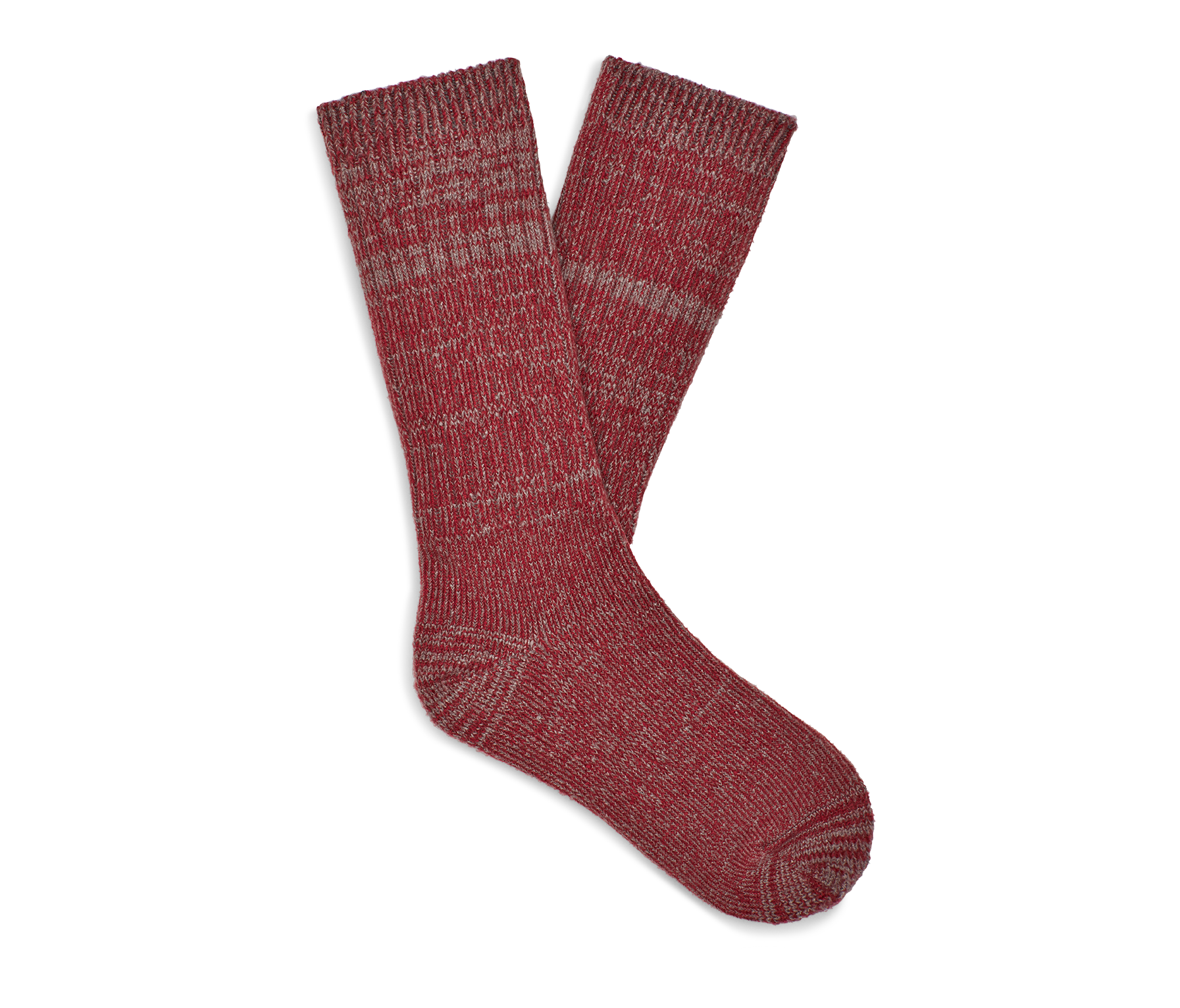 UGG Men's Trey Rib Knit Slouchy Crew Polyester Socks in Red Made from a soft rib knit, this cozy crew sock is designed for a slouchier fit, offering premium relaxation that's perfect around the house. 99% Polyester/1% Elastane. UGG Men's Trey Rib Knit Slouchy Crew Polyester Socks in Red