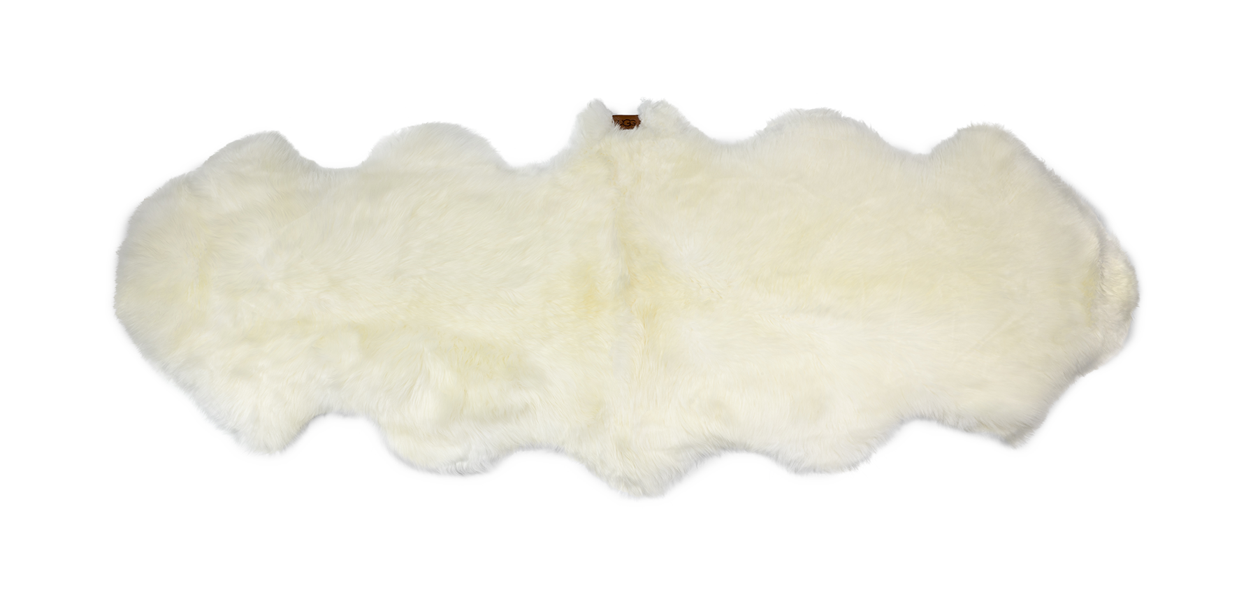 UGG Sheepskin Area Rug - Double Rugs in White A sophisticated design element with surprising versatility, this rug makes a modern statement in any setting. Crafted from premium New Zealand sheepskin, it feels just as luxurious as it looks. Details:. Sheepskin. 2' x 6'. UGG Sheepskin Area Rug - Double Rugs in White