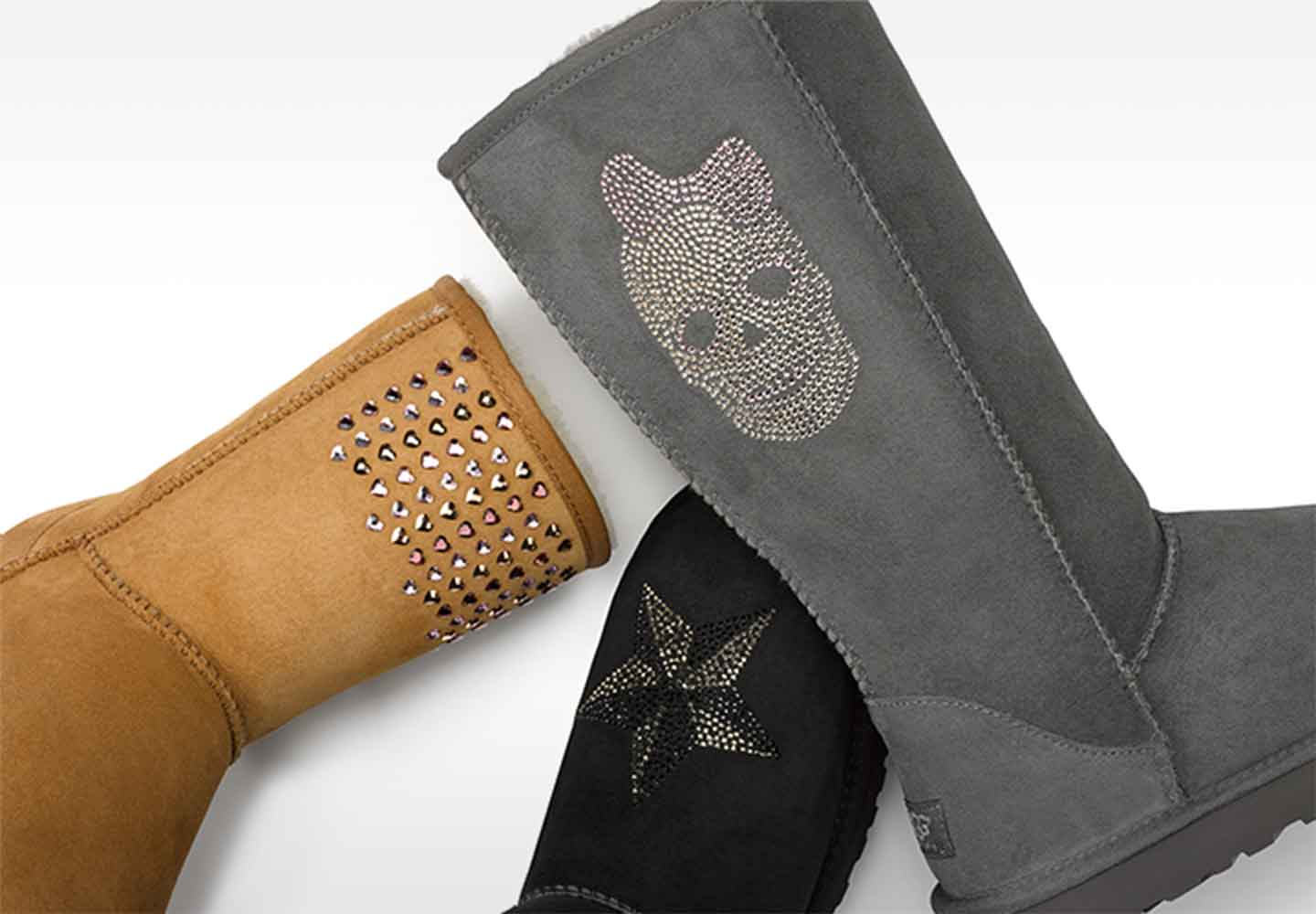 Ugg classic boots with rhinestones