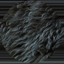 Close-up of sheepskin trim.