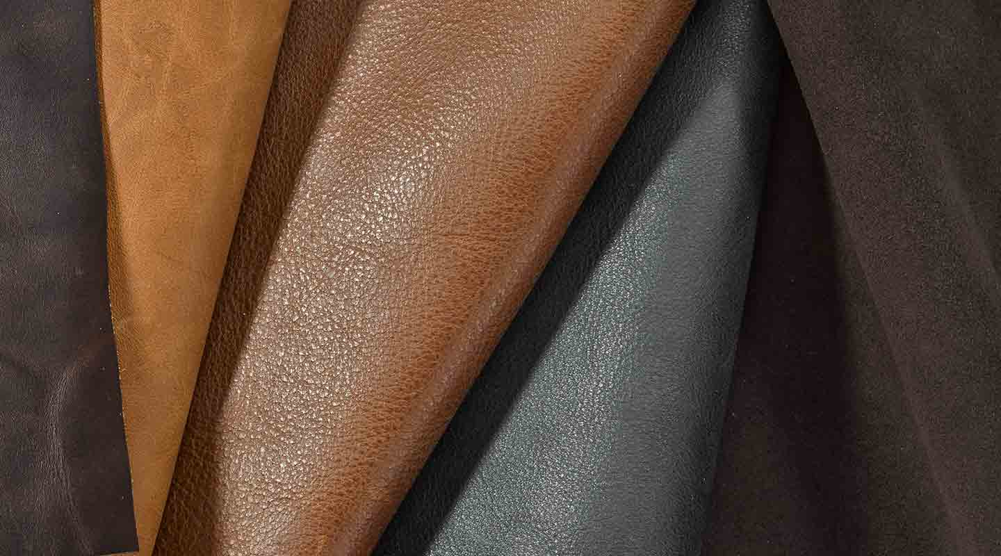 leather and suede swatches