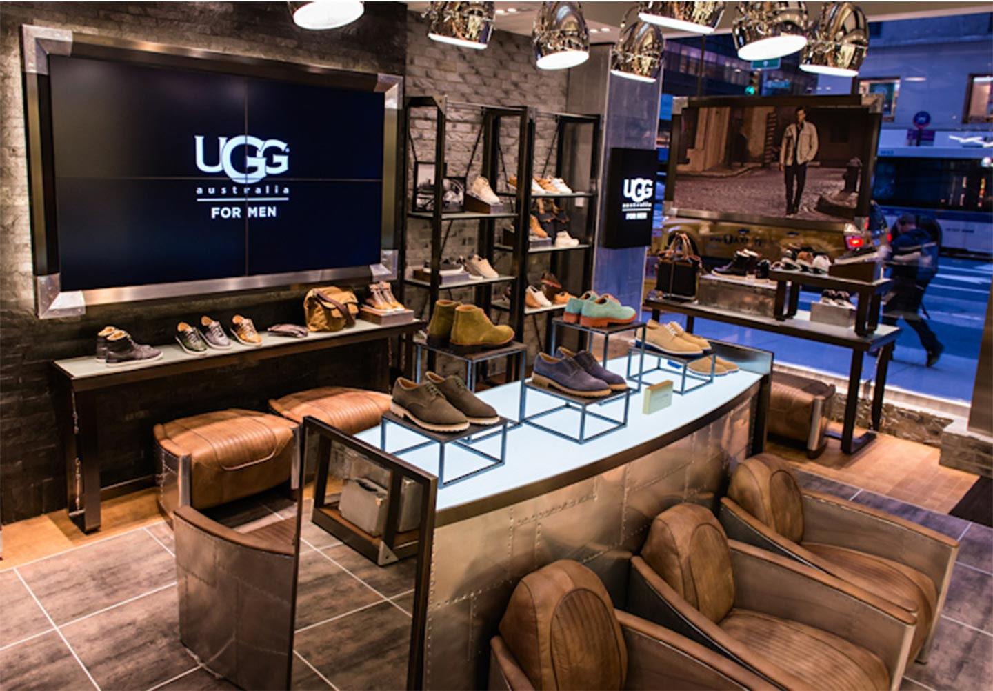 interior of Ugg retail store