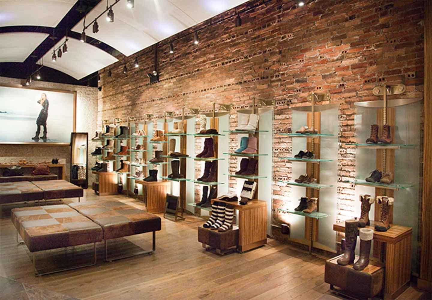 interior of Ugg retail store in Soho