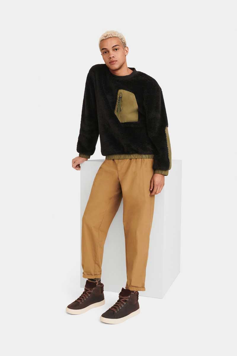 Model in UGG apparel.