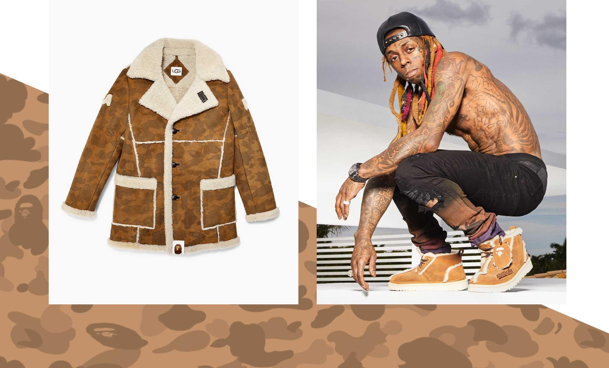 The Bape-UGG Jacket, and Lil Wayne wearing Bapes