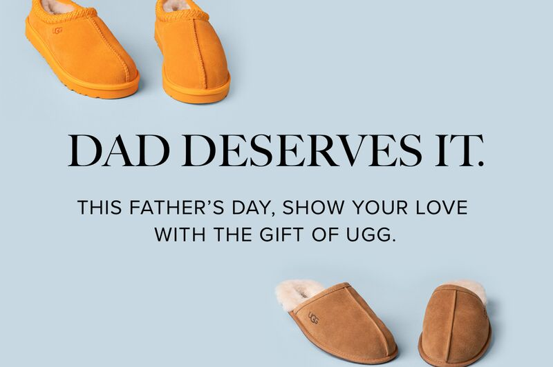 Gift guide. 2021 Father's Day UGG Banner.