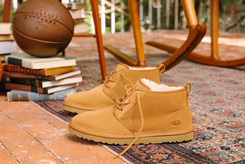 Close up of men's UGG boots.