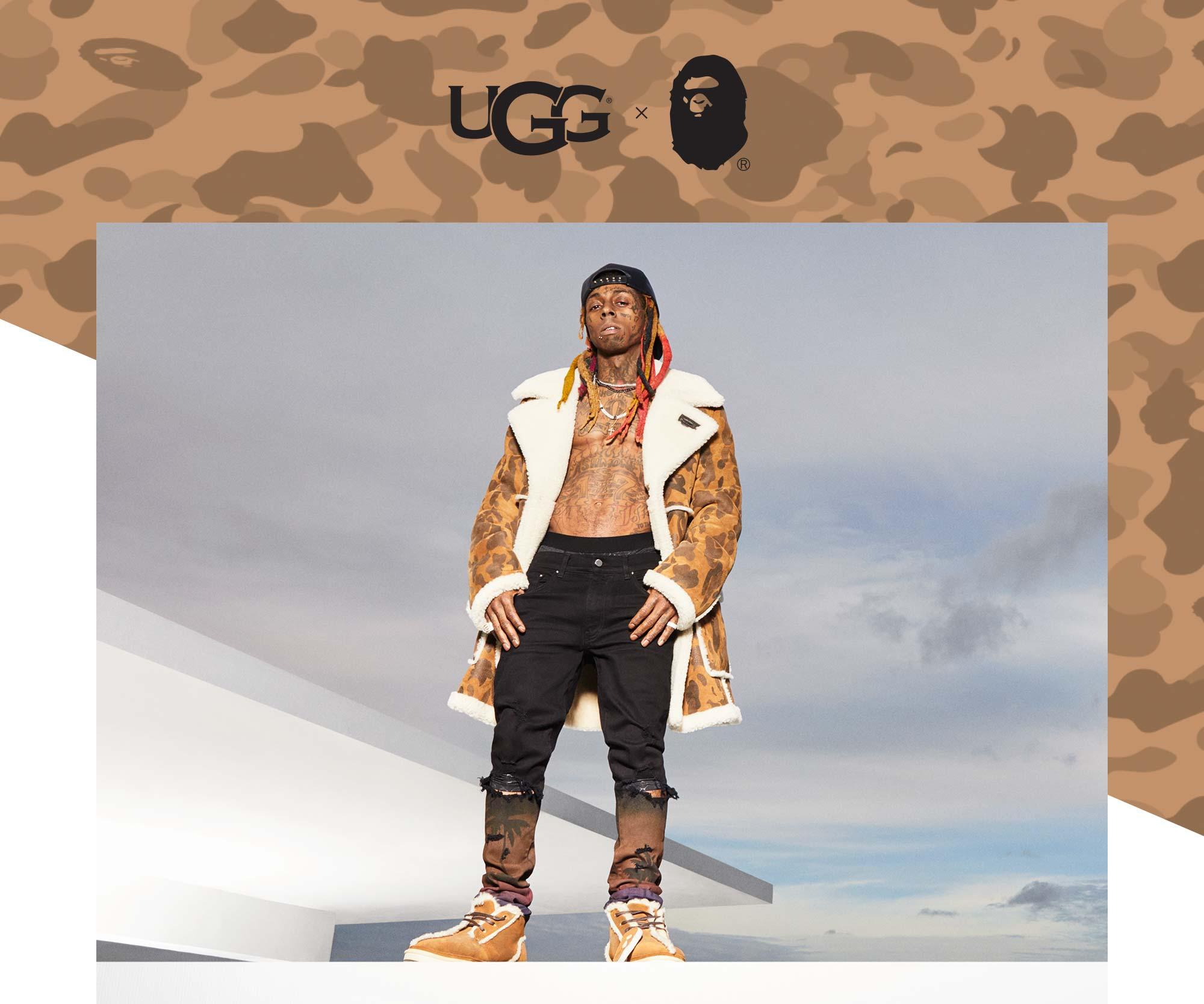 UGG x Bape featuring Lil Wayne.