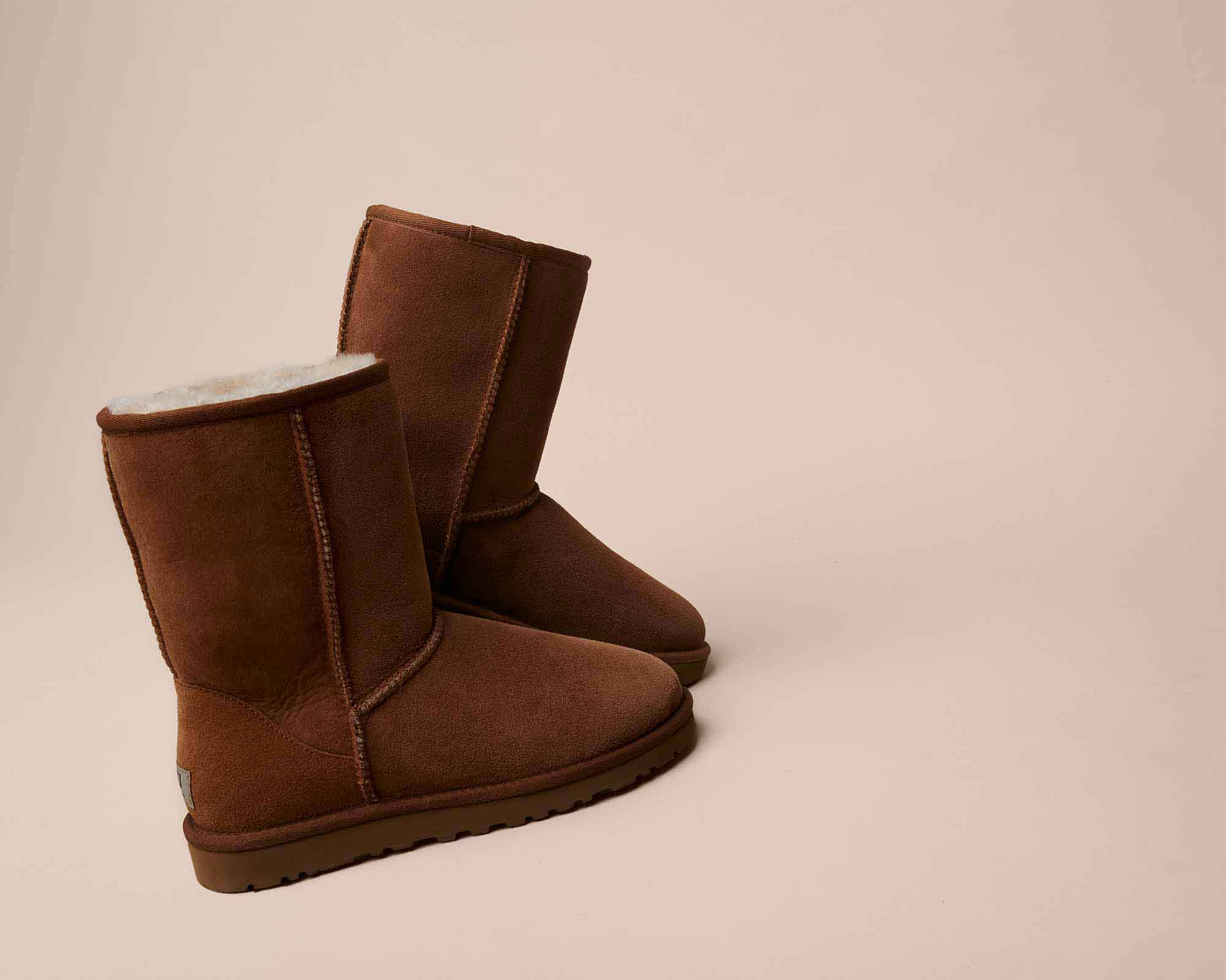 brown and white uggs