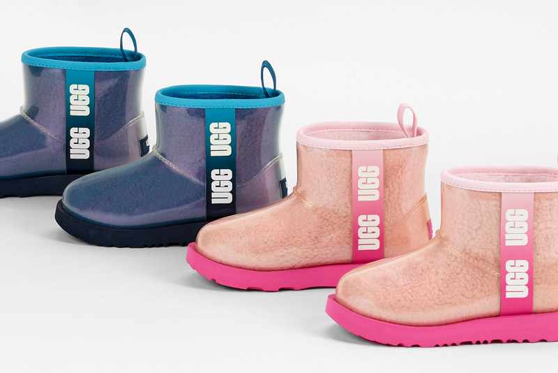 Row of kids weather ready boots.
