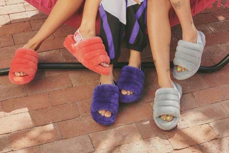 Models in Fluff Yeah Slippers.
