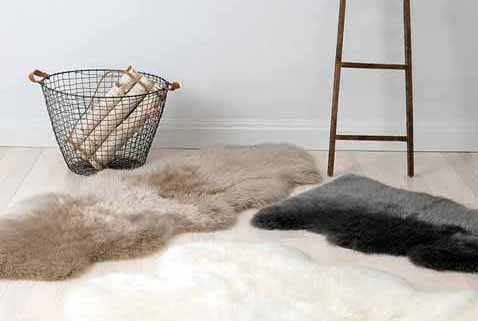 Home scene with UGG sheepskin rugs.