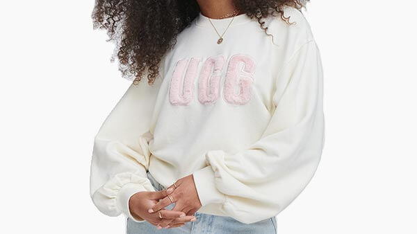 FUZZY LOGO BROOK CREWNECK